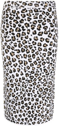 Versace Leopard Knit Pencil Skirt