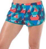 adidas Womens Graphic 3 Stripe M10 Marathon Running Shorts Equipment Green