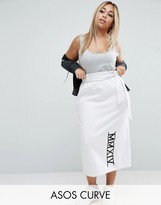 Asos Pencil Skirt with Slogan Print