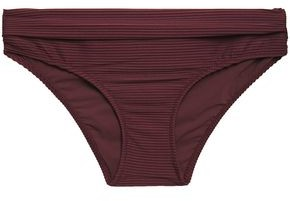 Heidi Klein Ribbed Mid-rise Bikini Briefs