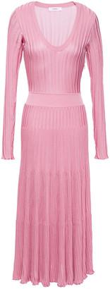 CASASOLA Ribbed-knit Midi Dress