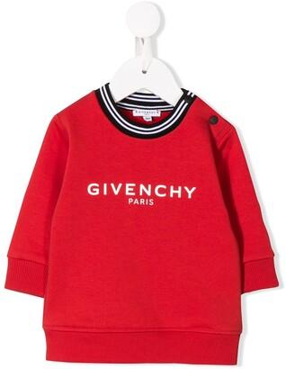 Givenchy Kids striped neck sweatshirt
