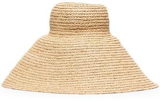 Jacquemus Neutral Le Chapeau Valensole straw hat