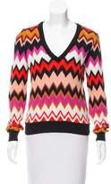 Missoni V-Neck Chevron Sweater