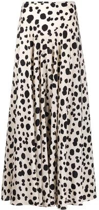 Aspesi Dotted Print Silk Skirt