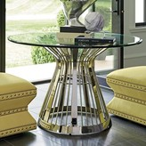 """Lexington Ariana Riviera Glass Top Dining Table Size: 30"""" H x 48"""" W x 48"""" D"""