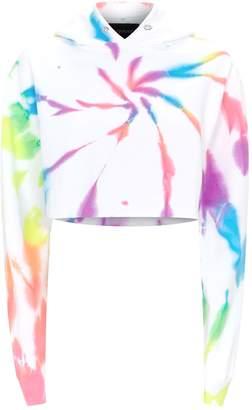 Myrrhe Rainbow Tie-Dye Cropped Hoodie