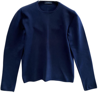 Prada Navy Cotton Knitwear & Sweatshirts