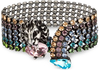 Gucci Lion head bracelet with crystals