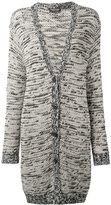 Twin-Set v-neck long cardigan - women - Cotton - L