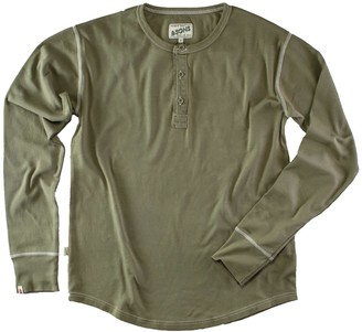 &Sons Trading Co The New Elder Henley Shirt Army Green