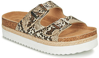 Elue par nous GIRONE women's Mules / Casual Shoes in Beige