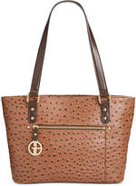 Giani Bernini Ostrich-Embossed Tote, Only at Macy's
