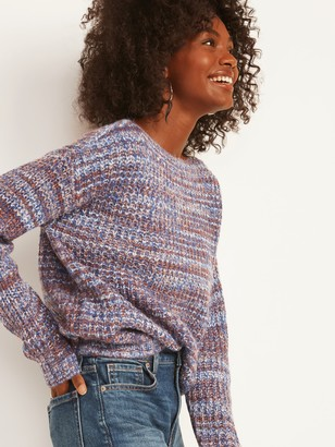 Old Navy Slouchy Space-Dye Boat-Neck Sweater for Women