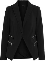 Thumbnail for your product : DKNY Zip-detailed Crepe Blazer