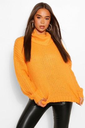 boohoo Roll Neck Textured Yarn Jumper