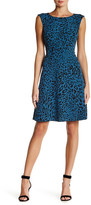 Anne Klein Printed Drop Waist Fit & Flare Dress