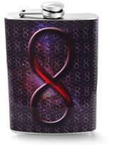 Screw-on Top 8oz Stainless Steel Hip Flask - Infinity Pattern Design