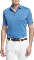 Isaia Pelleovo Jersey Polo Shirt, Blue