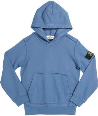 Stone Island Boy's Cotton Logo Hoodie, Size 8-10