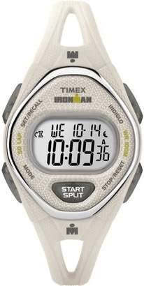 Timex Women's Ironman Sleek 50 Mid-Size White Silicone Strap Watch