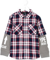 Diesel check layered effect shirt