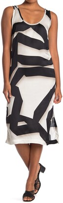 Jeffrey Abstract Print Midi Dress