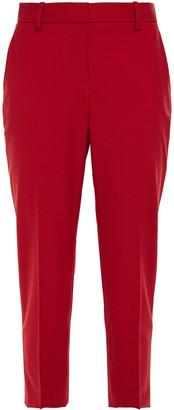 Theory Treeca 2 Cropped Wool-blend Slim-leg Pants