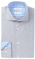 Isaac Mizrahi Long Sleeve Slim Fit Solid Dress Shirt