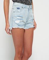 Superdry Hannah Super Ripped Denim Shorts