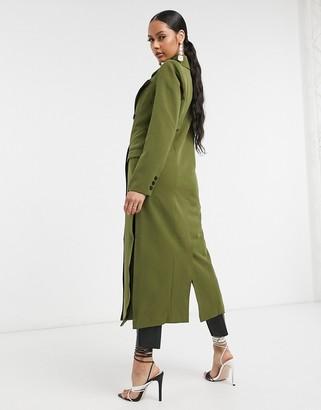 UNIQUE21 tailored trench coat in khaki