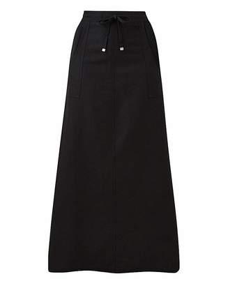 Capsule Petite Easy Care Linen Mix Maxi Skirt