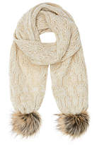 John Lewis Children's Cable Knit Scarf, Natural