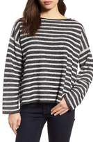 Eileen Fisher Women's Stripe Organic Linen & Cotton Sweater