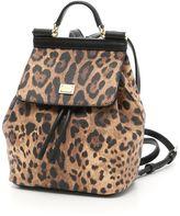 Dolce & Gabbana Mini Leopard Print Backpack