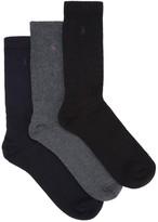 Polo Ralph Lauren Cotton Blend Socks - Set Of Three