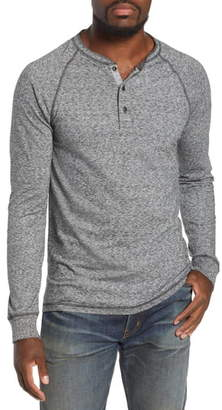 Faherty Luxe Heather Knit Organic Cotton Henley