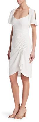 Nanette Lepore Core Portrait Ruched Cutout Dress