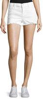 J Brand 1044 Mid-Rise Denim Shorts, White