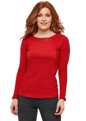 Joe Browns Lush Lace Top - Red