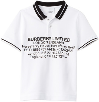 Burberry Rossal Graphic Logo Polo Shirt
