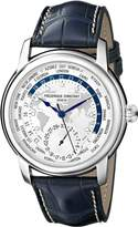 Frederique Constant Men's FC718WM4H6 World Timer Analog Display Swiss Automatic Blue Watch