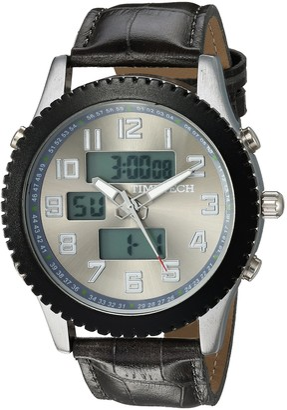 Viva TIMETECH Men's Alarm Sport Watch Analog Digital Metal Case Grey Strap