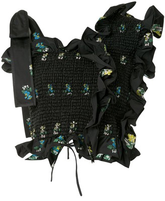 Cecilie Bahnsen Floral-Print Ruffled Top