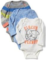 Gap babyGap | Disney Baby Dumbo long sleeve bodysuit (3-pack)