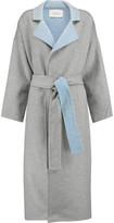 Derek Lam 10 Crosby Reversable Wool-Blend Felt Trench Coat