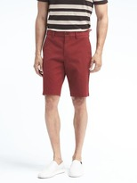 "Banana Republic Aiden Slim Stretch-Cotton 10"" Short"