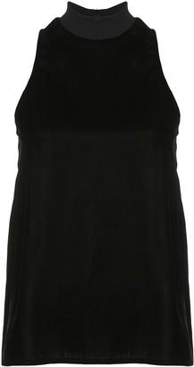 Nicole Miller velvet halterneck blouse