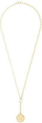 Foundrae 18kt yellow gold 20 inch Wholeness medallion medium belcher chain necklace