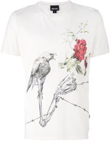 Just Cavalli bird print T-shirt - men - Cotton - S